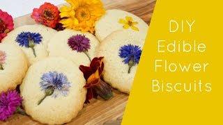 DIY Edible Flower Biscuits/Cookies