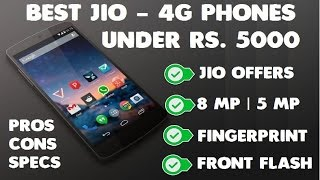 Best Jio 4G VoLTE Phones Under Rs 5000 Jan 2017