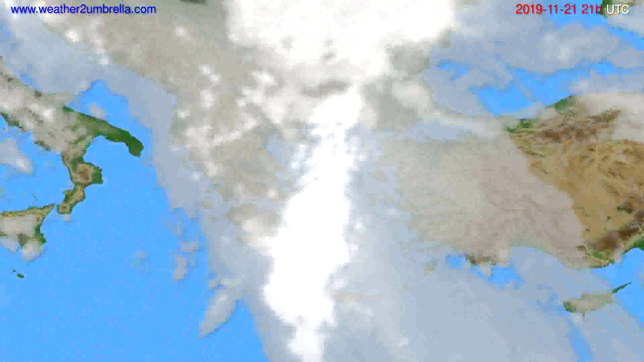 Cloud forecast Greece // modelrun: 12h UTC 2019-11-20