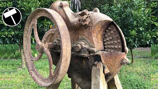 Antique and Very Rusty Corn Sheller Restoration