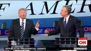 At second GOP debate, targeting Trump and trying to break through