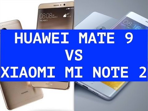 Huawei Mate 9 vs Xiaomi Mi Note 2 ITA