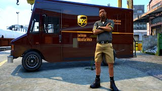 PLAYING AS a UPS DRIVER in GTA 5! (gta 5 real life mod)