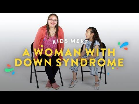 Watch videoKids Meet a Woman with Down