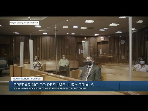 Michigan's largest circuit court prepares to resume jury trials in-person