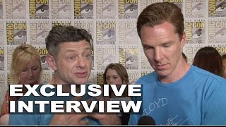 "Бенедикт Камбербэтч, The Hobbit: Andy Serkis ""Gollum"" & Benedict Cumberbatch ""Smaug"" & ""Necromancer"" Exclusive Interview"