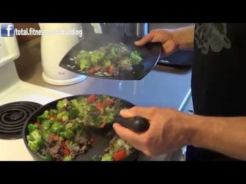 Video Bodybuilding Meal: Beef & Broccoli Stir Fry
