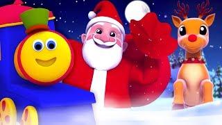 Bob xe lửa | tiếng leng keng chuông | bài hát giáng sinh cho trẻ em | Bob Jingle Bells Dance