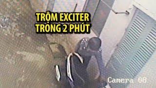 Trộm xe máy Exciter trong 2 phút tại nhà trọ giữa ban ngày