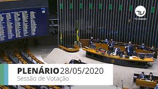 Plenário - Sessão para a votação de propostas legislativas - 28/05/2020 13:55