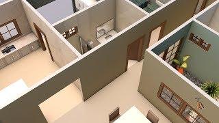 Projeto casa 3d sobrado 5x25 123vid for Casa moderna minimalista 6 00 m x 12 50 m 220 m2