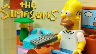 """The Tv Problems"" Lego Simpsons Animation"
