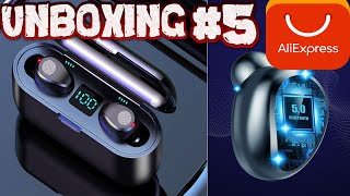Unboxing #5 Auriculares inalámbricos Bluetooth 5,0 F9 TWS  con micrófono