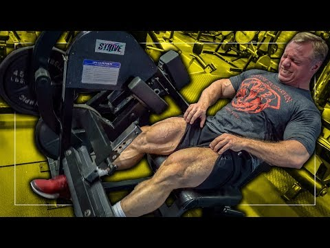 Crazy Old School John Meadows Leg Workout at Quads Gym