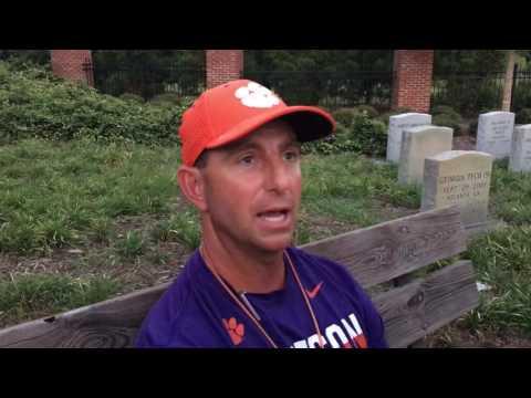 Swinney talks Monday Clemson practice