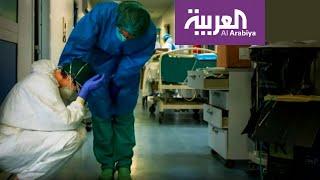 كورونا.. صور  تعب وإرهاق لأطباء وممرضين في إيطاليا
