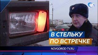 В Великом Новгороде средь бела дня задержан нетрезвый водитель грузовика