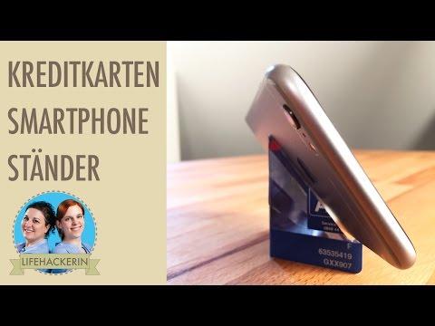 Smartphone Ständer aus Kreditkarte | Coole Halterung selbermachen