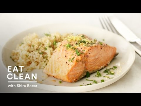 Video Steamed Salmon with Fresh Herbs and Lemon - Eat Clean with Shira Bocar