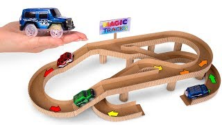 🏎 How To Make An Awesome Cardboard Race Track For Toy Cars
