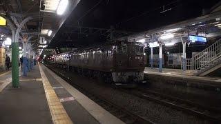 【岡谷工臨】~上諏訪駅には前照灯消して入線~