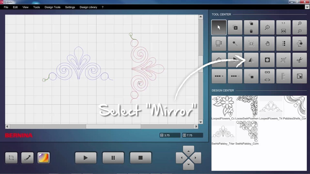 BERNINA Q-matic Video Tutorial: Flip and Mirror