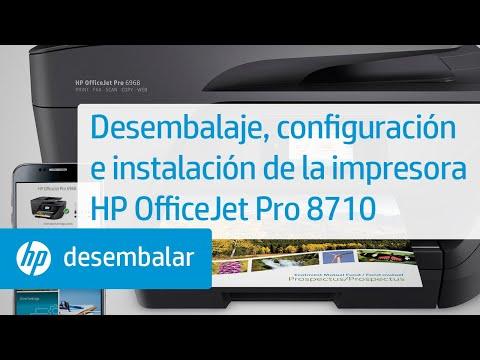 Desembalaje, configuración e instalación de la impresora HP OfficeJet Pro 8710