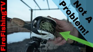 EASY How to get a backlash (birdnest) out of a baitcaster in 5 seconds! Plus an alternative(Ratnest)