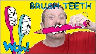 Brush your Teeth Song Story for Kids from Steve and Maggie NEW | Free Speaking Wow English TV