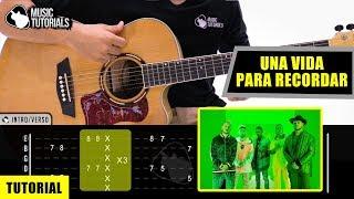 💖 Cómo Tocar Una Vida Para Recordar De Piso 21,Myke Towers En Guitarra | Tutorial + PDF GRATIS 😉