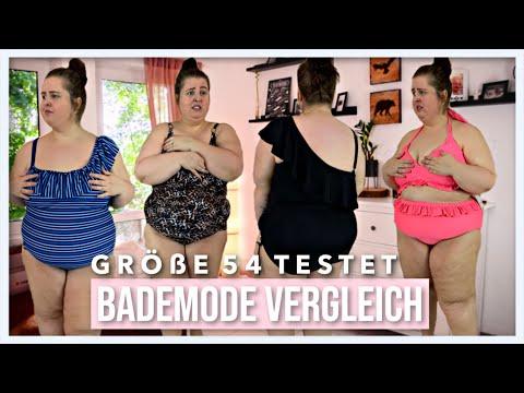 BADEMODE GRÖßE 54 VERGLEICH | Der perfekte Badeanzug für Plussize Frauen? |  Vanessa Nicole
