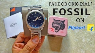 Received Fake Fossil Watch From Flipkart On Big Billion Days?   Unboxing