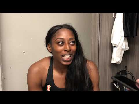 Post-Game Interview LAvLV: Chiney Ogwumike on Season Opener and CP3's Return