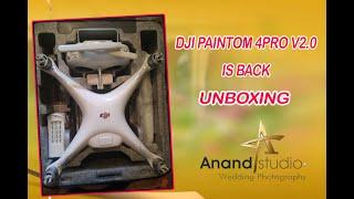 DJI phantom 4 pro v2.0 drone back an unboxing