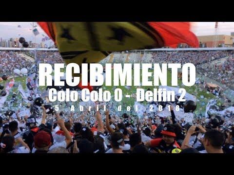 """""""Recibimiento Garra Blanca Colo Colo 0 - Delfin 2, Copa Libertadores 2018"""" Barra: Garra Blanca • Club: Colo-Colo"""