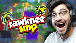 WELCOME TO OUR NEW MINECRAFT PUBLIC SMP | RAWKNEE SMP LIVE