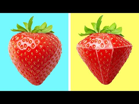 מגוון טיפים מדליקים לחיתוך ועיצוב פירות וירקות