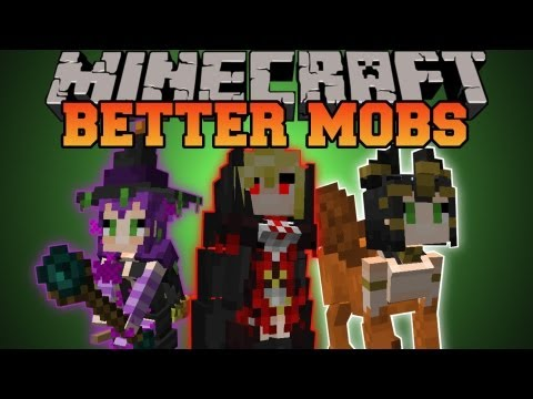Minecraft : BETTER MOBS! (TONS OF MOBS, MERCHANTS, UNIQUE ITEMS) Grimoire of Gaia 2 Mod Showcase