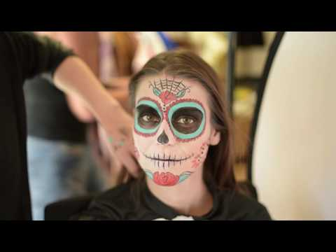 Backstage Sminke til Dia De Los Muertos Fotoshoot