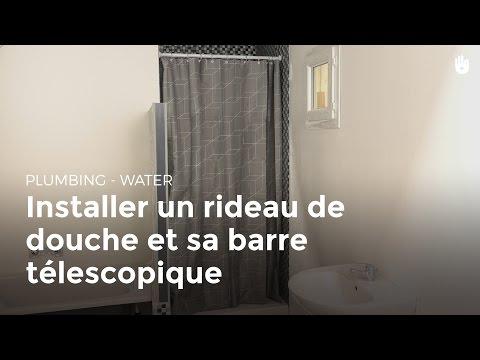 Installer un rideau de douche et sa barre télescopique | Bricolage