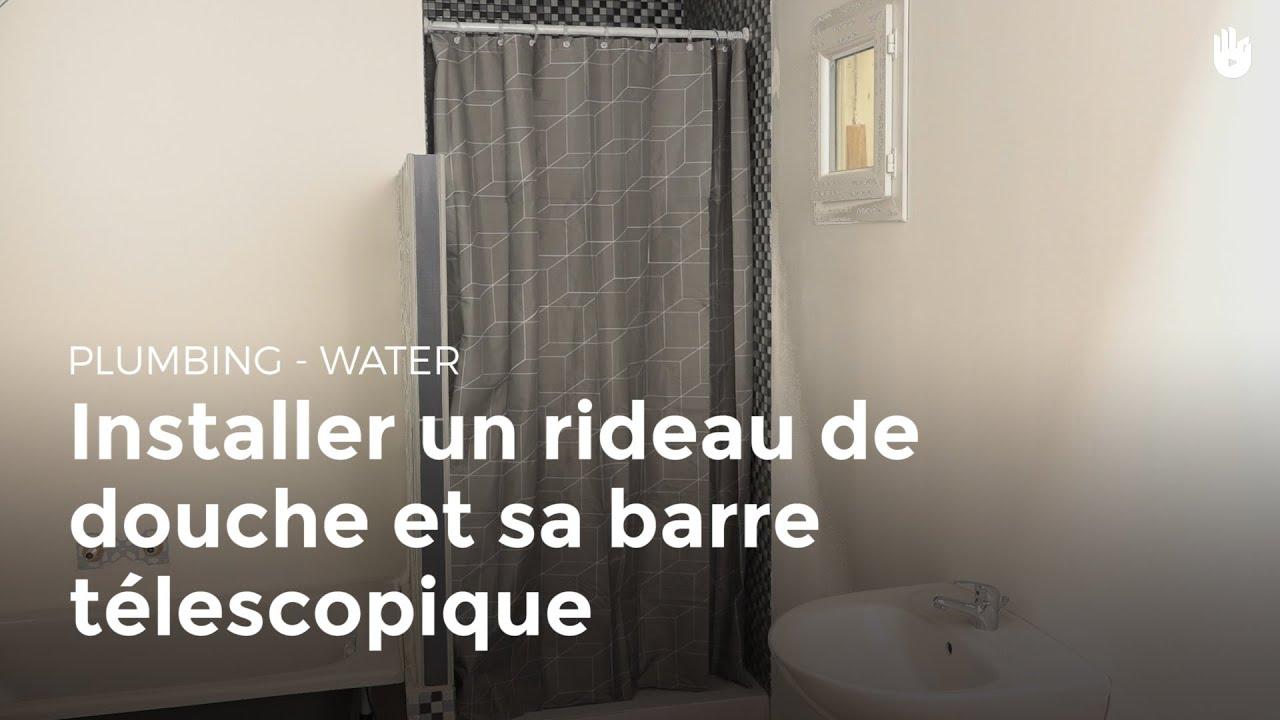 installer un rideau de douche et sa barre t lescopique diy les basiques du bricolage sikana. Black Bedroom Furniture Sets. Home Design Ideas