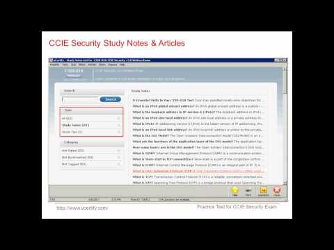 uCertify CCIE Security Exam Practice Questions - YouTube