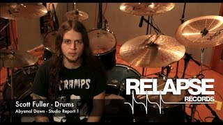 ABYSMAL DAWN  - 'Obsolescence' Studio Update #1 - Drums