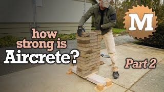 How Strong Is Aircrete? Deflection Test Lightweight Concrete Garden Box Panels