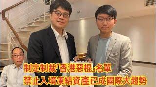 20200117 制定制裁「香港惡棍」名單 禁止入境凍結資產已成國際大趨勢
