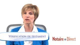 Vérification de testament