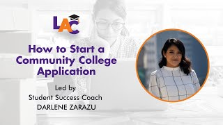 How to Start a California Community College Application