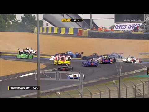 Challenge Funyo V de V 2018. Race 1 Circuit Bugatti du Mans. Start Pile Up