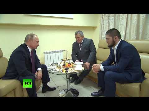 Putin meets and congratulates Khabib on UFC 229 win over McGregor
