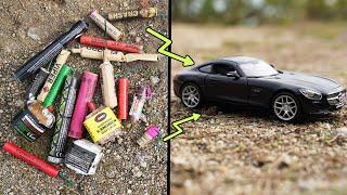 Experiment - POLENBÖLLER vs MERCEDES AMG GT!  Was passiert?
